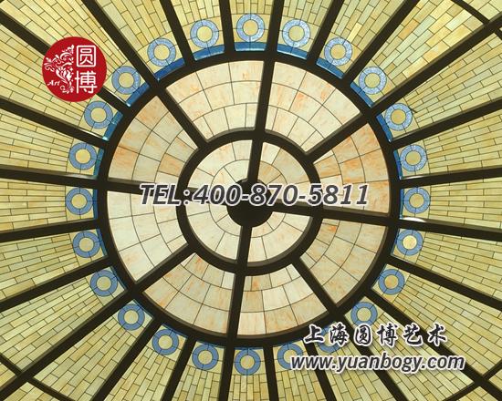 室外大型椭圆彩色玻璃穹顶项目