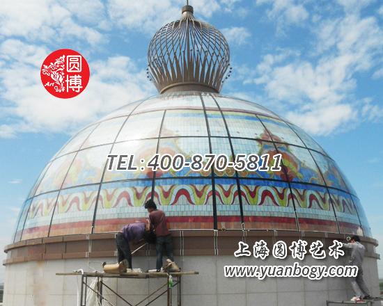 合生创展集团杭州湾彩色玻璃穹顶项目