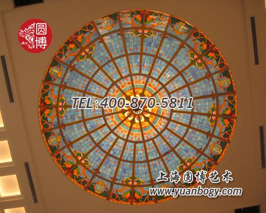 山东临沂彩色蒂凡尼玻璃穹顶