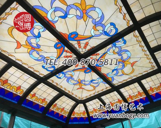 杭州法式别墅室外彩色玻璃穹顶项目